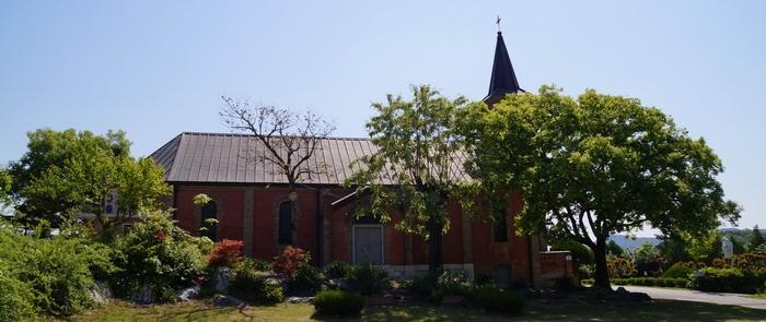 성당 옆모습.