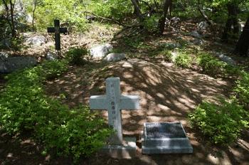 순교자 묘역의 서태순 베드로 묘. 총 37기의 묘 중에서 이름이 알려진 4명 순교자 중 한 명이다.