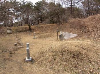 한티 성지 순교자 묘역의 조 가롤로와 그의 가족 묘.