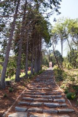 순교자 현양비로 바로 올라가는 계단길.