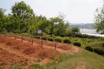 공동묘지 내에 있는 무명 순교자의 묘와 손자선 성인의 가족 순교자 묘가 앞뒤로 자리하고 있다.