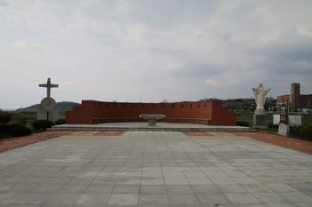 중앙광장과 야외제대.