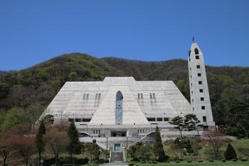 1991년 건립한 103위 한국 순교자 시성 기념 대성당 전경.