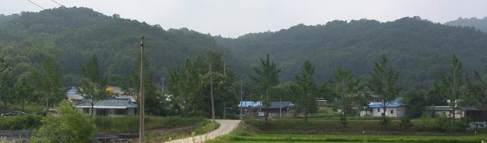 배모기 교우촌이 있었던 양범리 마을 풍경.