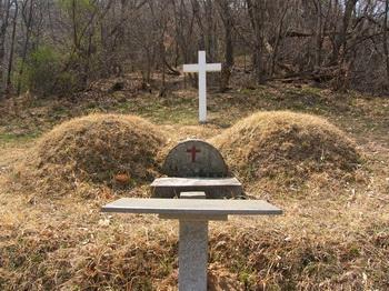 1868년 무진박해 때 대구 관덕정에서 순교한 박대식 빅토리노와 부인의 묘.