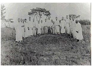 1929년 초창기 원머리 순교자 묘.