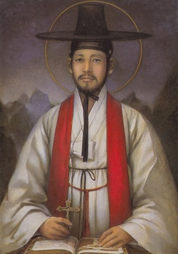 성 김대건 안드레아 신부(문학진 작).
