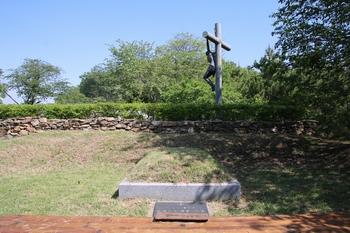순교자들의 행적 증언자이자 인천교구 역사의 증인인 박순집 베드로의 묘.