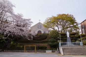 무학당 인근에 설립된 나주 성당.