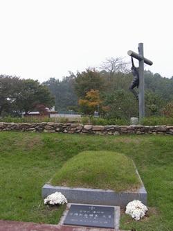 인천교구 갑곶 성지에 모셔진 증거자 박순집 베드로의 묘소.