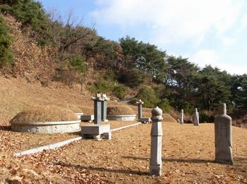 의령 남씨 가족 묘소 전경. 이곳에 남종삼 성인과 부친 남상교, 장자 남규희 삼대 순교자가 모셔져 있다.