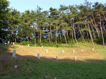 제3 줄무덤 전경.