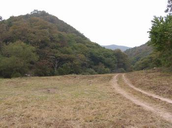 부엉골 예수성심 신학교 터로 가는 계곡길의 넓은 공터.