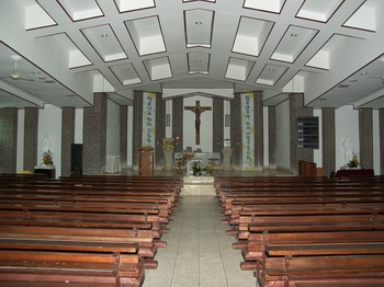 성당 내부 모습.