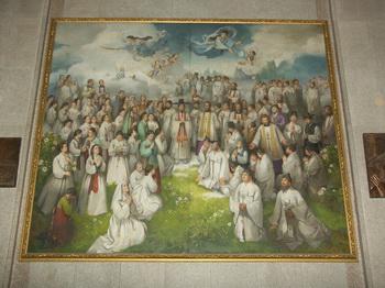 1977년 문학진 교수에 의해 103위 순교복자 성화로 제작되었다가 1984년 시성식과 함께 103위 순교 성인화가 되었다. 한국적 주체성을 살린 대작으로 평가받고 있다.