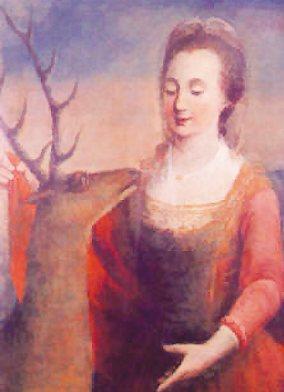 Josef Meurer: Ida med hind (ca 1700)